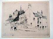 David Y Cameron / Etching. Street Scene With People. 1891