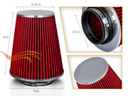 3.5 Cold Air Intake High Flow Truck Filter Universal Red For Plymouth/pontiac