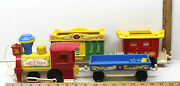 Vintage Fisher-price Little People Circus Train 991 Pull Along Toy Animal Zoo