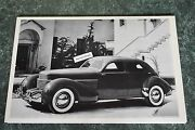 12 By 18 Black And White Picture 1936 Cord Westchester 4 Door