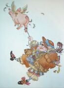 James C Christensen Diggery Diggery Dare Paper Etching 22/60 Rare Limited Ed.