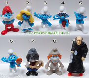 Collectible Complete 9 Figures Set The Smurfs Ii Kinder Surprise 2013 Ft 120-128