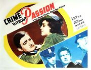 Crime Without Passion 1934 Half Sheet Poster Style A / Ft. Rains Margo