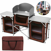 Camping Kitchen Table Collect Portable Table Food Storage Desk Cabinet Sale