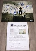 The Walking Dead Cast X14 Signed 11x14 Photo W/proof And Beckett Bas Loa
