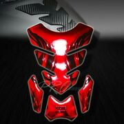 3d Gel Fuel/gas Tank Pad Protector Decal/sticker Chromed Red+black Tribal Fire