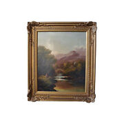 Francis Sydney Muschamp Oil On Canvas Signed And Dated