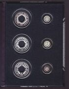 1988 1989 1990 Holey Dollar And Dump Silver Coin Set Collection In Display Book