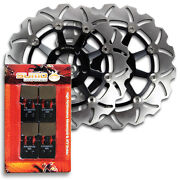 Front High Quality Brake Rotors + Pads For Suzuki Gsx-r 1000 K3 [2003]