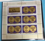 Cook Islands Gold Coin Stamp Plate Block
