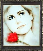 Teardrop Lady Love Remembered Lost Vogue Mahogany Black Wall Art Framed Picture