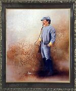 Civil War Soldier Blue Union America With Sword Wall Art Decor Framed Picture