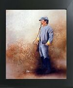 Civil War Soldier Blue Union America With Sword Wall Decor Art Framed Picture