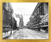Vintage City Kansas Missouri, Main St. And 9th 1926 Old Model T Car Framed Picture