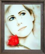 Teardrop Lady Love Remembered Lost Vogue Wall Art Decor Barnwood Framed Picture