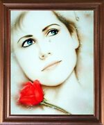 Teardrop Lady Love Remembered Lost Vogue Wall Art Decor Mahogany Framed Picture