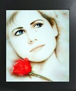 Teardrop Lady Love Remembered Lost Vogue Wall Decor Art Print Framed Picture