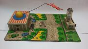 Vintage Rare Soviet Ussr Wind-up Tin Toy Airport Station