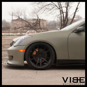 19 Rohana Rfx2 Black Forged Concave Wheels Rims Fits Infiniti G37 G37s Coupe