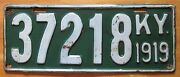 Kentucky 1919 License Plate High Quality 37218