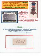 Medal Of Honor Recipient Civil War Theodore S Peck 9th Vermont Infantry