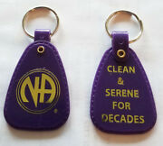 Narcotics Anonymous - Lot Of 10 - Purple Decades Key Tag - 20+ Yr Of Recovery