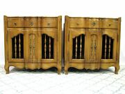 Pair John Widdicomb Provincial Style Nightstands / End Tables
