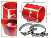 2.75 Silicone Hose/pipe Straight Coupler Red +t-bolt Clamp For Mercury/volvo