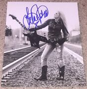 Lita Ford Signed Autograph The Runaways 8x10 Photo D W/proof