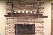 Custom Light Fixture. Hand Crafted. Salvaged Ceiling Beams And Steel