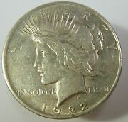 1922-d Vam 3 Double Olive Silver Liberty Peace Dollar 1 Us Coin Item 10415
