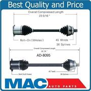 Front Left And Right Cv Axles For 2004-2009 Audi S4 4.2l With Manual Transmission
