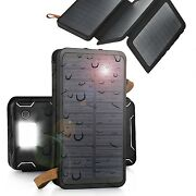 9000000mah Solar Panel External Battery Charger Power Bank For Cell Phone Tablet