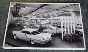 12 By 18 Black And White Picture 1957 Ford Large Auto Show Display