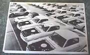 12 By 18 Black And White Picture 1965 1966 Shelby Mustangs Under Construction