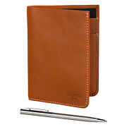 Stanley Tools - Tan Leather Travel Wallet With Pen In Presentation Gift Box