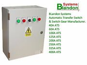 Ats Automatic Transfer Switch Panel Changeover Switch 3 Phase Sizes 40-400 Amps