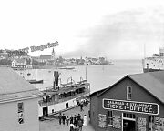 Photograph Of 1904 Mackinac Island Dock And Mission Point Steamboat Office 8x10