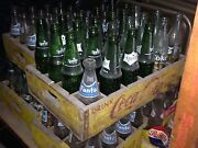Primo Vintage Soda Bottles Wooden Crates And One Six Pack Carrier