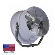 High Velocity Fan Industrial - Opt Mounting - 24 - 5600 Cfm - 1/2 Hp - 230/460v