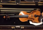 Full Size Handmade Concert Violin + Bow + Case + Free Practice Violin Included