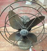 Vintage Sears Roebuck And Co. Cold Wave Oscillating Desk Fan