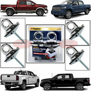 4 Pc Universal Fit Truck Bed Anchor Chrome Plated Tie Down Loop Hooks Pickup Bed