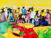 Original Acryl On Canvas By Jamaican Walford Williams - Signed - 46 X 34 -