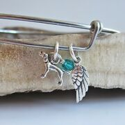 Pointer Mini Angel Wing Stackable Bangle Bracelet Dog Charm - Free Shipping