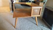 Russell Wright Conant Ball Mid Century 2 Tiered Corner Table.