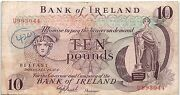 Rare Northern Ireland £10 Pounds 1971-77 Used Banknote - B43