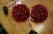 2 X 4 Inch Round Tail/brake/turn Led Light Commercial Grade Dialight Lot Of 2