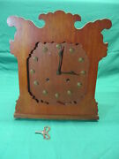 Rare Wwi Trench Art 8 Day Clock Us Army Buttons Ansonia Pulford Main Case