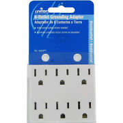 K Leviton 6adpt 6-outlet Grounding Adapter White Box Of 3